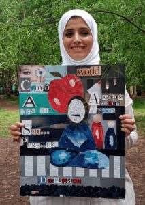 Maha with her collage